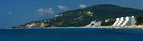 Албена, панорама, море