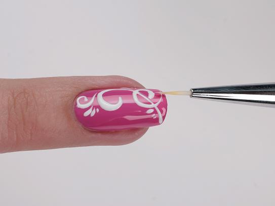 Схемы рисунков на ногтях тонкой кисточкой