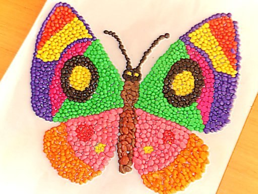 Как сделать бабочку из пластилина на картоне