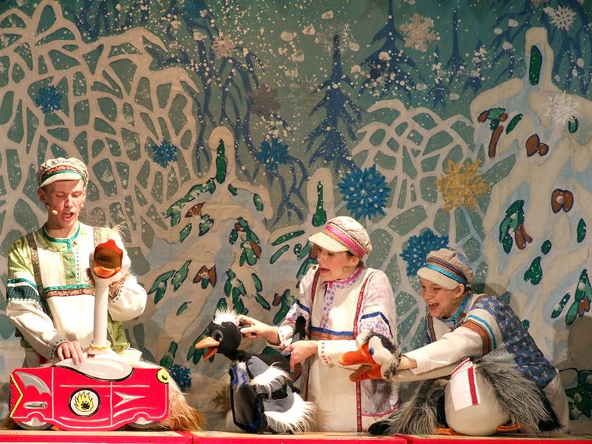 Новогодняя сказка «Зимняя сказка про гусей»