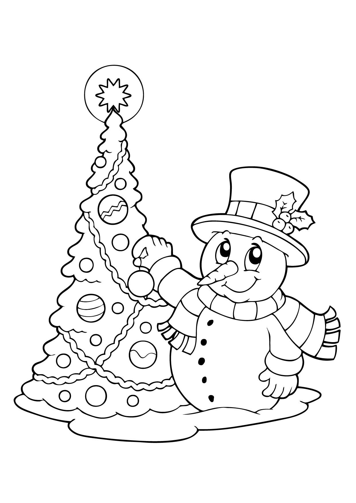 интересные детские раскраски на тему зима
