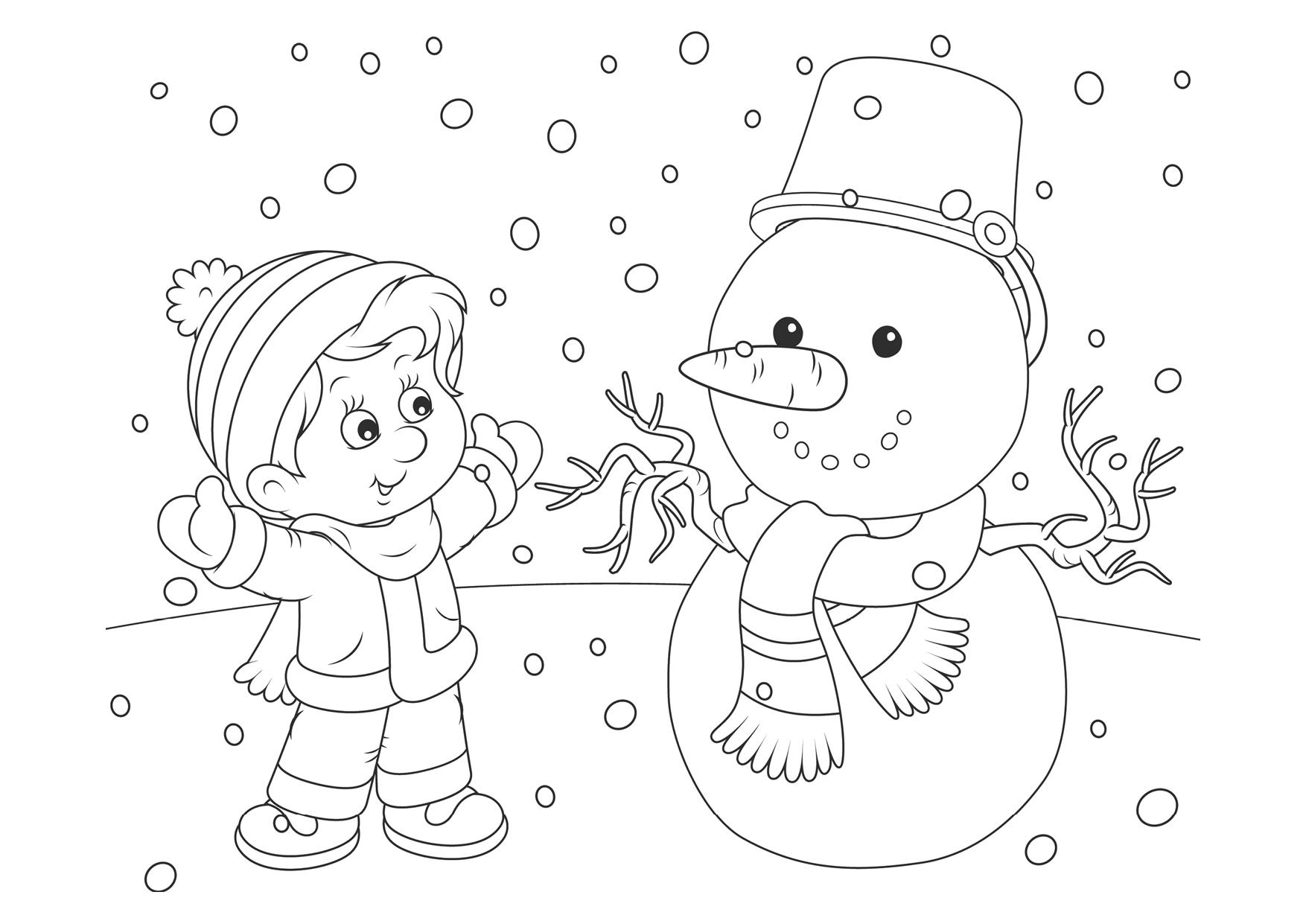 Раскраска зима для детей 5-6 лет